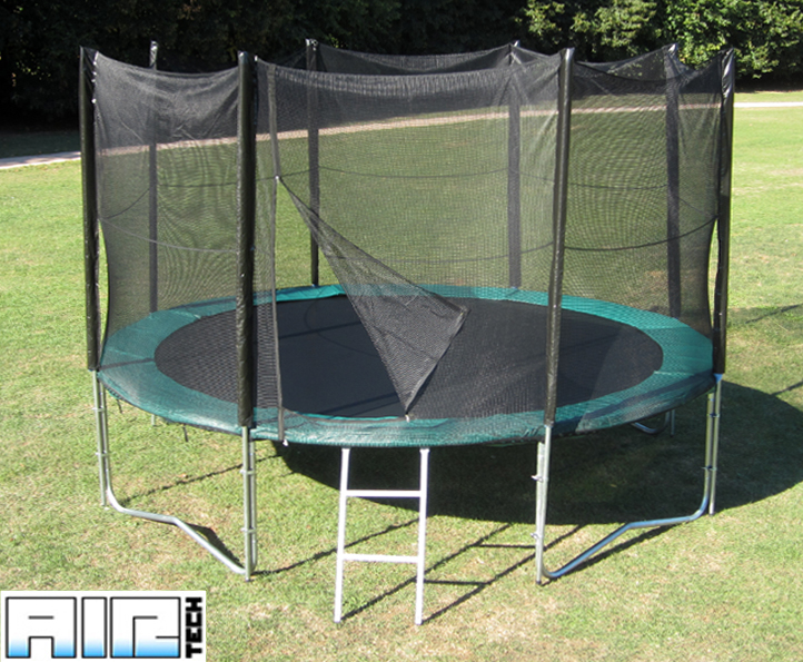 Airtech Silver 12ft trampoline package