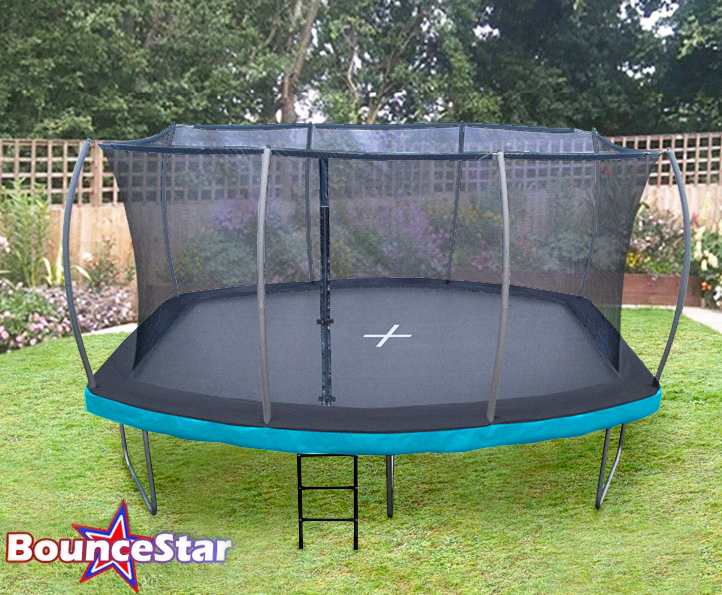 BounceStar Pro 12x15ft Barrel trampoline package