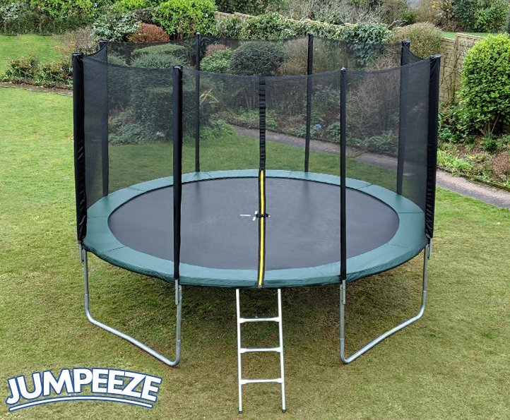 Jumpeeze Green 12ft trampoline package