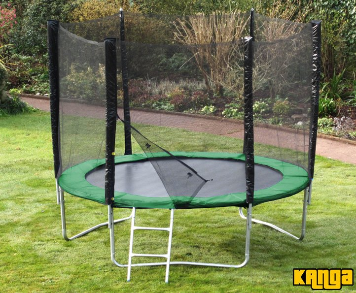 Kanga Green 10ft trampoline package