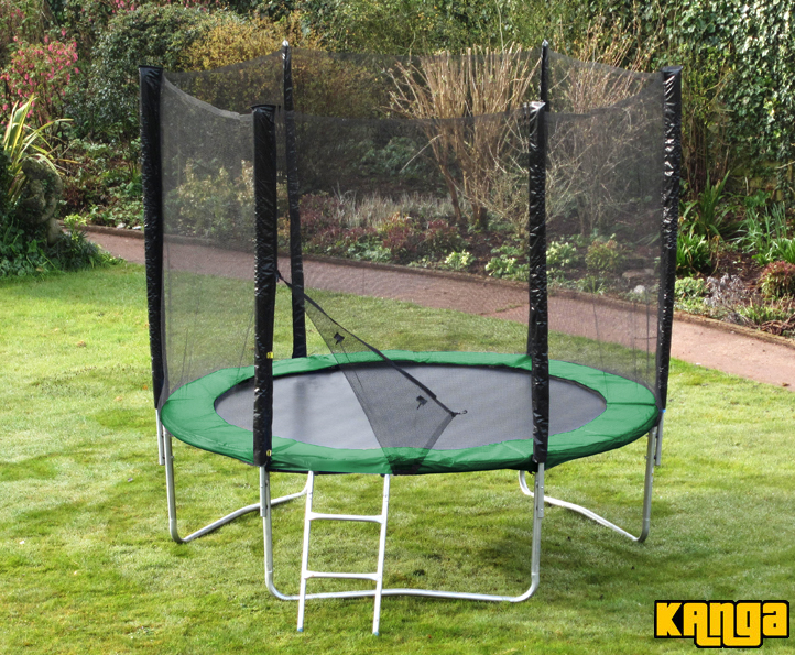 Trampolines Kanga Hi-Power Green 8ft trampoline package