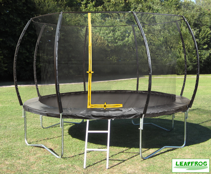 Leapfrog 14ft Black Trampoline Package