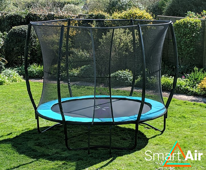SmartAir Turquoise 10ft trampoline package