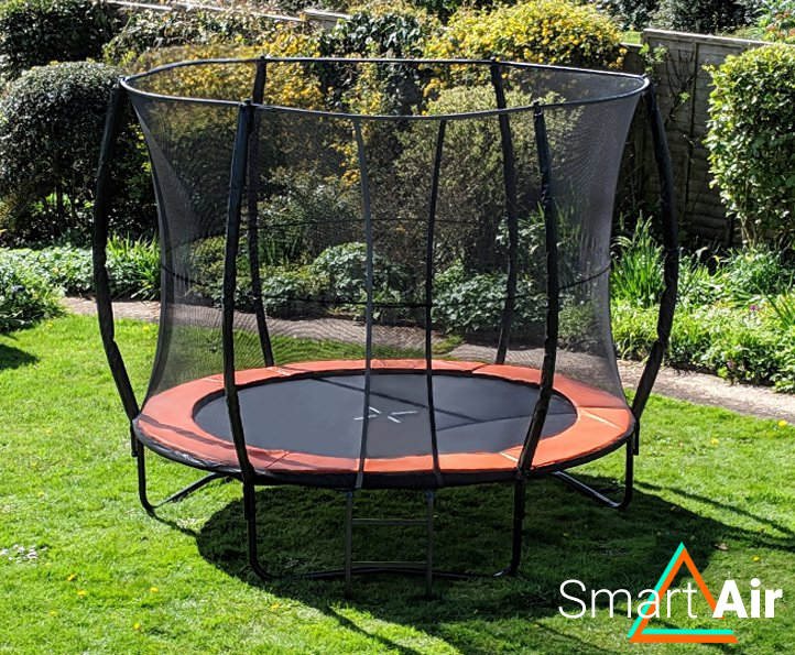 SmartAir Orange 10ft trampoline package