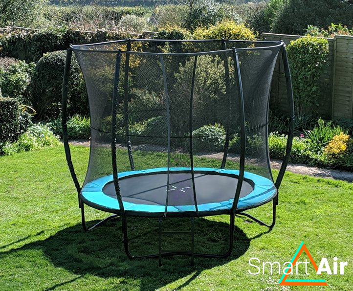 SmartAir Turquoise 8ft trampoline package