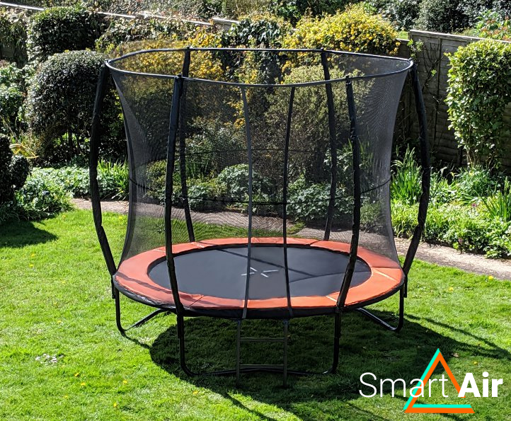 SmartAir Orange 8ft trampoline package
