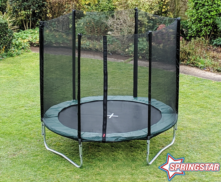 Spring Star Green 8ft trampoline package